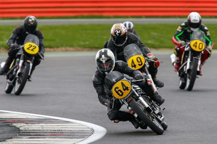 Classic motorcycle racing at Silverstone with the Lansdowne in 2018