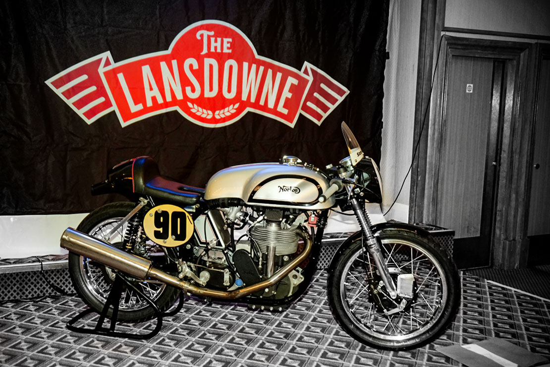 Manx Norton racing at the Lansdowne Classic Series