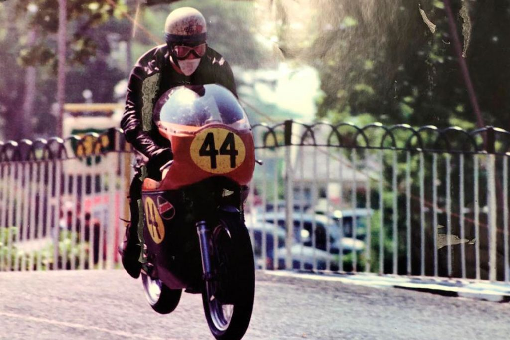 Stan Woods racing in the Isle of Man