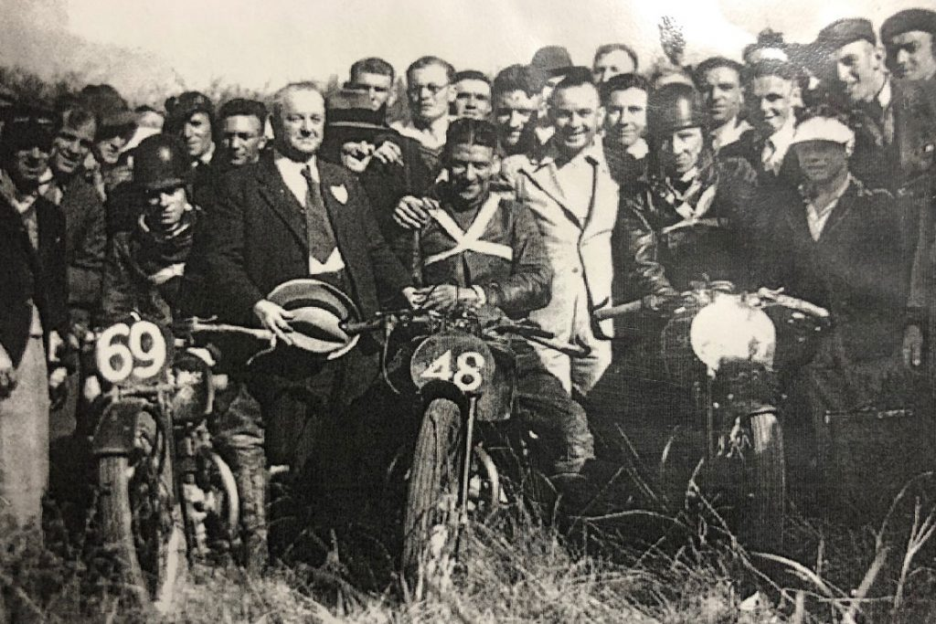 Tommy Rogers and George Hannaford in Australia on the Rudge in 1935