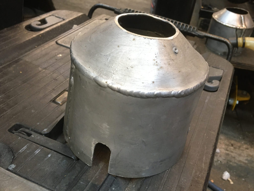 Richard Adams has fabricated these exhaust end caps to help reduce the noise