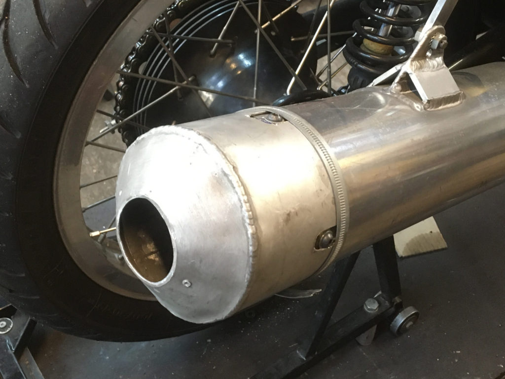 The Richard Adams exhaust cap should bring it down to around 103db
